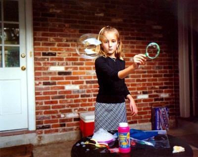 Girl making Bubbles | Baton Rouge LA | 2001
